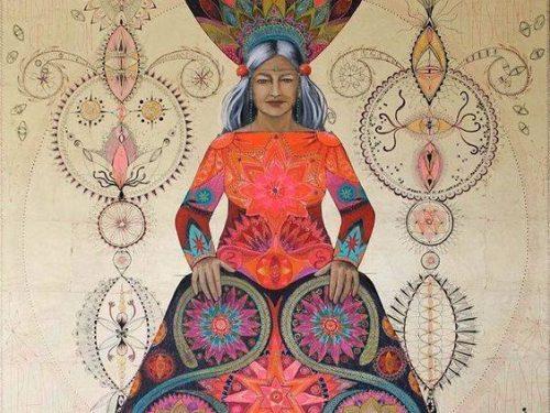 menopausal woman artwork